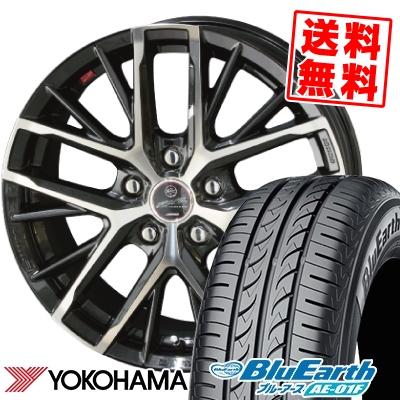 205/65R15 94H YOKOHAMA ヨコハマ BluEarth AE-01F ブルーアース AE01F SMACK REVILA スマック レヴィラ サマータイヤホイール4本セット