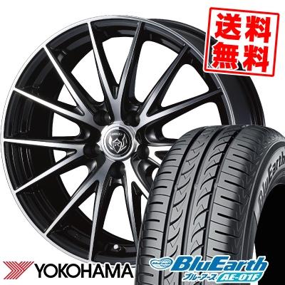 205/55R16 91V YOKOHAMA ヨコハマ BluEarth AE-01F ブルーアース AE01F WEDS RIZLEY VS ウェッズ ライツレー VS サマータイヤホイール4本セット