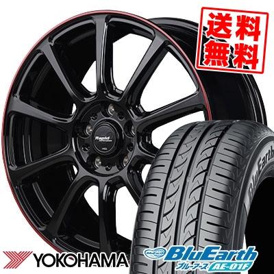205/60R16 92H YOKOHAMA ヨコハマ BluEarth AE-01F ブルーアース AE01F Rapid Performance ZX10 ラピッド パフォーマンス ZX10 サマータイヤホイール4本セット