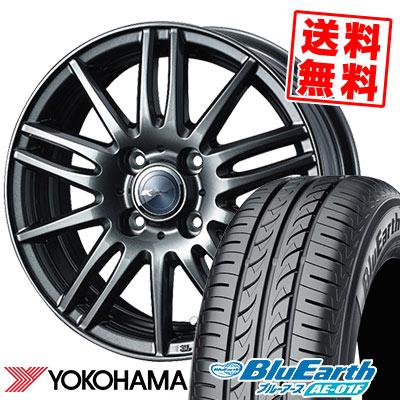 165/70R14 81S YOKOHAMA ヨコハマ BluEarth AE-01F ブルーアース AE01F Zamik Tito ザミック ティート サマータイヤホイール4本セット