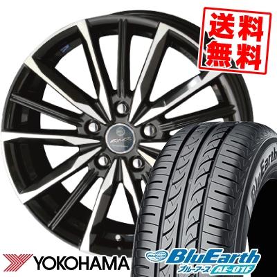 205/65R15 94H YOKOHAMA ヨコハマ BluEarth AE-01F ブルーアース AE01F SMACK VALKYRIE スマック ヴァルキリー サマータイヤホイール4本セット