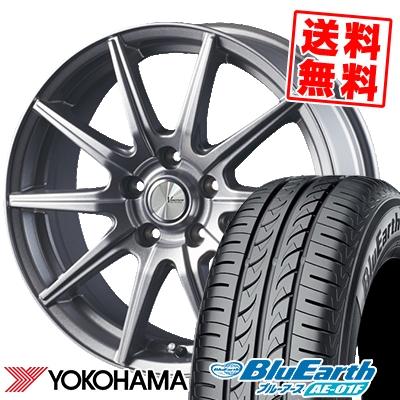 205/55R16 91V YOKOHAMA ヨコハマ BluEarth AE-01F ブルーアース AE01F V-EMOTION SR10 Vエモーション SR10 サマータイヤホイール4本セット