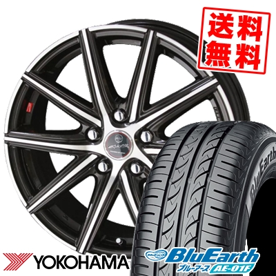 195/60R15 88H YOKOHAMA ヨコハマ BluEarth AE-01F ブルーアース AE01F SMACK PRIME SERIES VANISH スマック プライムシリーズ ヴァニッシュ サマータイヤホイール4本セット