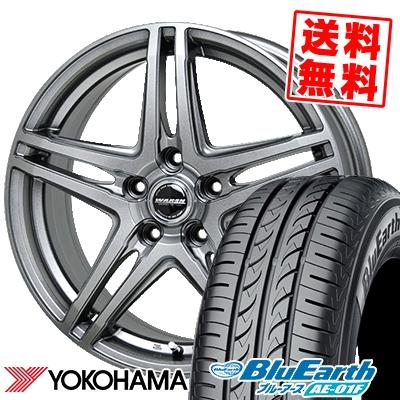 215/60R16 95H YOKOHAMA ヨコハマ BluEarth AE-01F ブルーアース AE01F WAREN W04 ヴァーレン W04 サマータイヤホイール4本セット