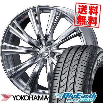 205/65R15 94H YOKOHAMA ヨコハマ BluEarth AE-01F ブルーアース AE01F weds LEONIS WX ウエッズ レオニス WX サマータイヤホイール4本セット