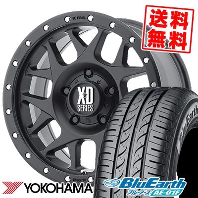 爆売り 16インチ YOKOHAMA ヨコハマ BluEarth AE-01F ブルーアース AE01F 205 55 16 KMC 取付対象 BULLY 91V サマーホイールセット 55R16 205-55-16 ブリー 最安値挑戦 XD127 サマータイヤホイール4本セット