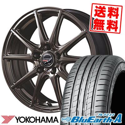 245/45R18 100W XL YOKOHAMA ヨコハマ BluEarth-A AE50 ブルーアース エース AE-50 FINALSPEED GR-Volt ファイナルスピード GRボルト サマータイヤホイール4本セット