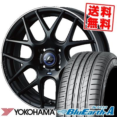 185/55R16 83V YOKOHAMA ヨコハマ BluEarth-A AE50 ブルーアース エース AE-50 WEDS LEONIS NAVIA06 ウェッズ レオニス ナヴィア06 サマータイヤホイール4本セット