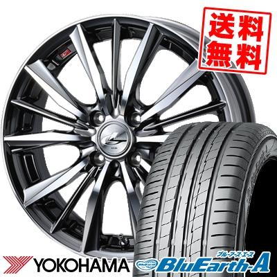 175/60R16 82H YOKOHAMA ヨコハマ BluEarth-A AE50 ブルーアース エース AE-50 weds LEONIS VX ウエッズ レオニス VX サマータイヤホイール4本セット