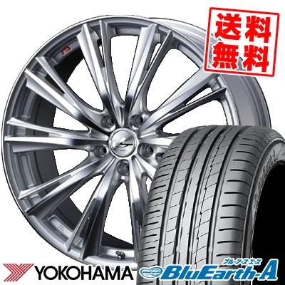 195/65R15 91H YOKOHAMA ヨコハマ BluEarth-A AE50 ブルーアース エース AE-50 weds LEONIS WX ウエッズ レオニス WX サマータイヤホイール4本セット