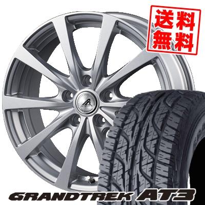 205/70R15 96S DUNLOP ダンロップ GRANDTREK AT3 グラントレック AT3 AZ SPORTS EX10 AZスポーツ EX10 サマータイヤホイール4本セット