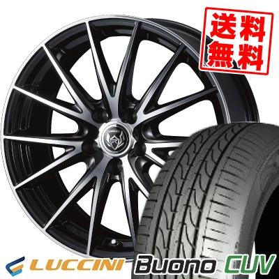 235/55R18 104V LUCCINI ルッチーニ Buono CUV ヴォーノ CUV WEDS RIZLEY VS ウェッズ ライツレー VS サマータイヤホイール4本セット