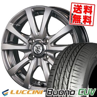 185/55R15 82V LUCCINI ルッチーニ Buono Drive ヴォーノ ドライヴ TRG-BAHN TRG バーン サマータイヤホイール4本セット