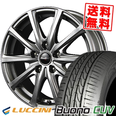 【新型プリウス専用】 195/65R15 91H LUCCINI ルッチーニ Buono Drive ヴォーノ ドライヴ Euro Speed V25 ユーロスピード V25 サマータイヤホイール4本セット