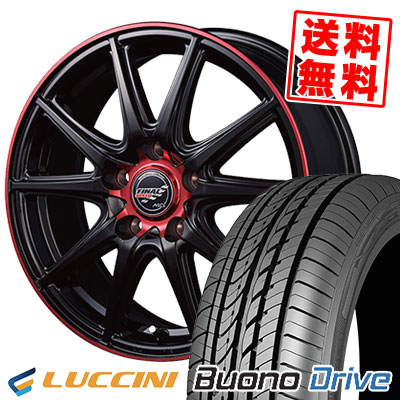 195/65R15 91H LUCCINI ルッチーニ Buono Drive ヴォーノ ドライヴ FINALSPEED GR-Volt ファイナルスピード GRボルト サマータイヤホイール4本セット