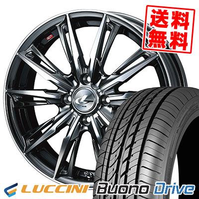 205/50R16 87V LUCCINI ルッチーニ Buono Drive ヴォーノ ドライヴ WEDS LEONIS GX ウェッズ レオニス GX サマータイヤホイール4本セット