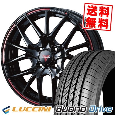 205/50R16 87V LUCCINI ルッチーニ Buono Drive ヴォーノ ドライヴ WEDS NOVARIS ROHGUE SH ウェッズ ノヴァリス ローグ SH サマータイヤホイール4本セット