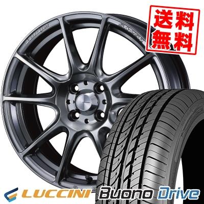 185/55R15 82V LUCCINI ルッチーニ Buono Drive ヴォーノ ドライヴ WedsSport SA-25R ウェッズスポーツ SA-25R サマータイヤホイール4本セット