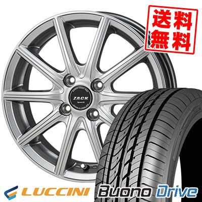 185/55R15 82V LUCCINI ルッチーニ Buono Drive ヴォーノ ドライヴ ZACK SPORT-01 ザック シュポルト01 サマータイヤホイール4本セット