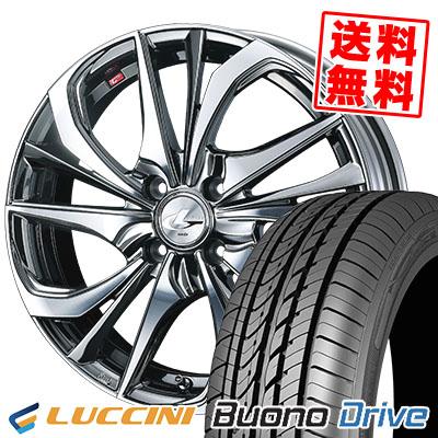 205/50R16 87V LUCCINI ルッチーニ Buono Drive ヴォーノ ドライヴ weds LEONIS TE ウェッズ レオニス TE サマータイヤホイール4本セット