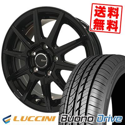 215/65R15 100H XL LUCCINI ルッチーニ Buono Drive ヴォーノ ドライヴ V-EMOTION BR10 Vエモーション BR10 サマータイヤホイール4本セット