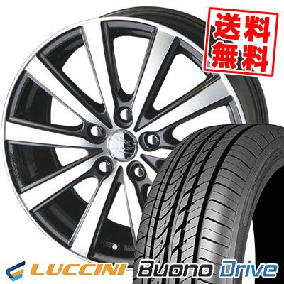 205/65R16 95H LUCCINI ルッチーニ Buono Drive ヴォーノ ドライヴ SMACK VIR スマック VI-R サマータイヤホイール4本セット