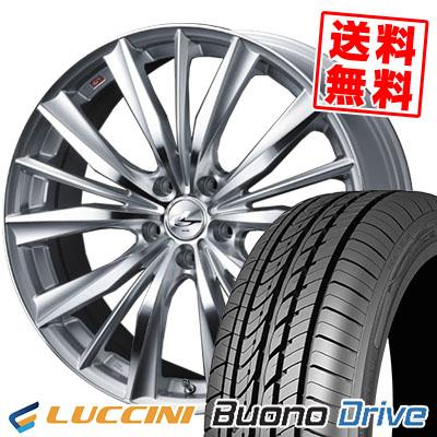205/55R16 91V LUCCINI ルッチーニ Buono Drive ヴォーノ ドライヴ weds LEONIS VX ウエッズ レオニス VX サマータイヤホイール4本セット