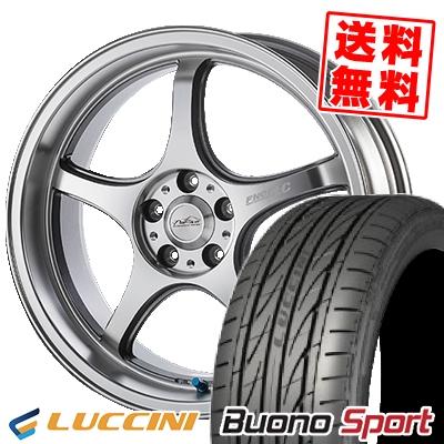225/45R17 LUCCINI ルッチーニ Buono Sport ヴォーノ スポーツ 5ZIGEN PRORACER FN01R-Cα 5ジゲン プロレーサー FN01R-Cアルファ サマータイヤホイール4本セット