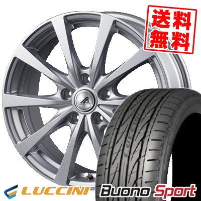 215/55R16 97V XL LUCCINI ルッチーニ Buono Sport ヴォーノ スポーツ AZ SPORTS EX10 AZスポーツ EX10 サマータイヤホイール4本セット