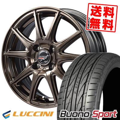 165/55R15 75V LUCCINI ルッチーニ Buono Sport ヴォーノ スポーツ FINALSPEED GR-Volt ファイナルスピード GRボルト サマータイヤホイール4本セット