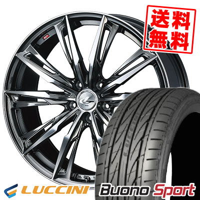 225/35R20 93Y XL LUCCINI ルッチーニ Buono Sport ヴォーノ スポーツ WEDS LEONIS GX ウェッズ レオニス GX サマータイヤホイール4本セット