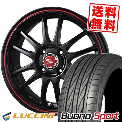 195/45R16 84V XL LUCCINI ルッチーニ Buono Sport ヴォーノ スポーツ BADX S-HOLD LAGUNA BR バドックス エスホールド ラグナ BR サマータイヤホイール4本セット