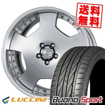 235/30R20 88Y XL LUCCINI ルッチーニ Buono Sport ヴォーノ スポーツ WORK LANVEC LD1 ワーク ランベック エルディーワン サマータイヤホイール4本セット