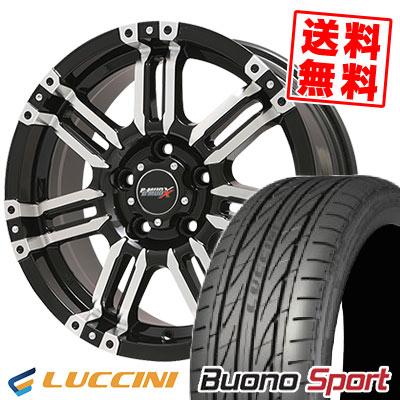 215/55R17 94W LUCCINI ルッチーニ Buono Sport ヴォーノ スポーツ B-MUD X Bマッド エックス サマータイヤホイール4本セット