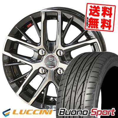 165/55R15 75V LUCCINI ルッチーニ Buono Sport ヴォーノ スポーツ SMACK REVILA スマック レヴィラ サマータイヤホイール4本セット