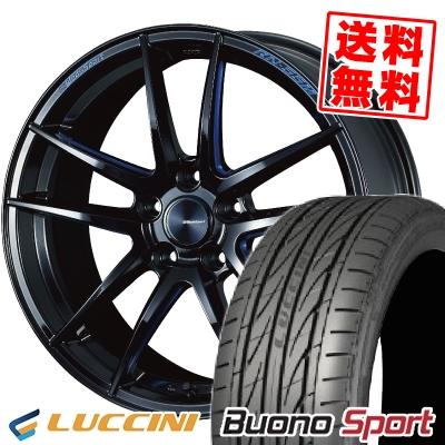 215/40R18 89W XL LUCCINI ルッチーニ Buono Sport ヴォーノ スポーツ WedsSport RN-55M ウェッズスポーツ RN-55M サマータイヤホイール4本セット