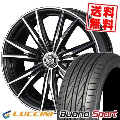 215/55R16 97V XL LUCCINI ルッチーニ Buono Sport ヴォーノ スポーツ WEDS RIZLEY DK ウェッズ ライツレーDK サマータイヤホイール4本セット
