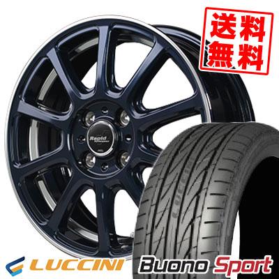 205/45R16 87V XL LUCCINI ルッチーニ Buono Sport ヴォーノ スポーツ Rapid Performance ZX10 ラピッド パフォーマンス ZX10 サマータイヤホイール4本セット