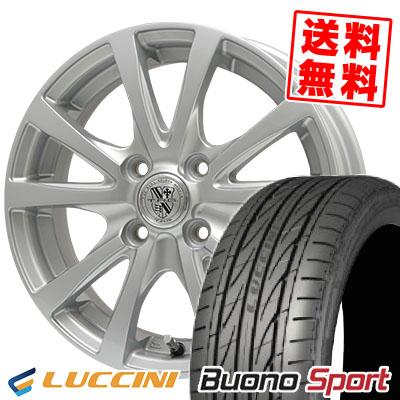 165/55R15 75V LUCCINI ルッチーニ Buono Sport ヴォーノ スポーツ TRG-SILBAHN TRG シルバーン サマータイヤホイール4本セット