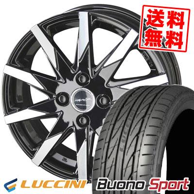 165/55R14 72V LUCCINI ルッチーニ Buono Sport ヴォーノ スポーツ SMACK SFIDA スマック スフィーダ サマータイヤホイール4本セット