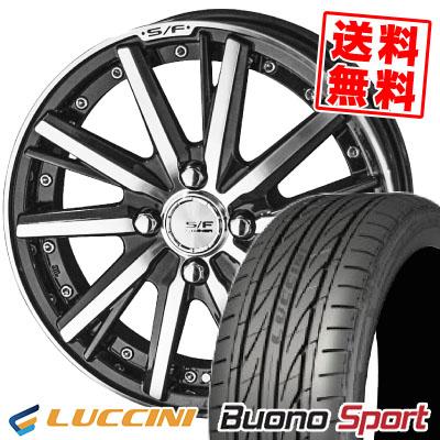195/45R16 84V XL LUCCINI ルッチーニ Buono Sport ヴォーノ スポーツ STEINER FORCED SERIES SF-V シュタイナー フォースドシリーズ SF-V サマータイヤホイール4本セット