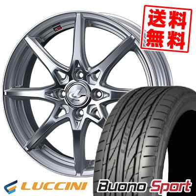 165/55R15 75V LUCCINI ルッチーニ Buono Sport ヴォーノ スポーツ weds LEONIS SV ウェッズ レオニス SV サマータイヤホイール4本セット