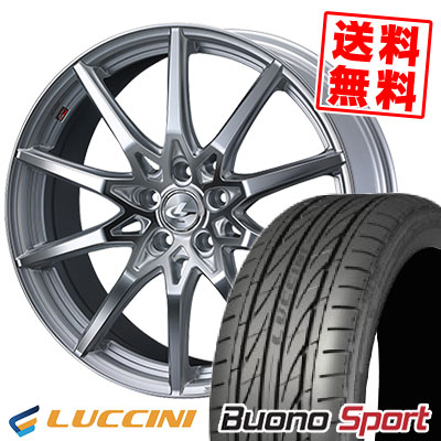 215/55R17 94W LUCCINI ルッチーニ Buono Sport ヴォーノ スポーツ weds LEONIS SV ウェッズ レオニス SV サマータイヤホイール4本セット