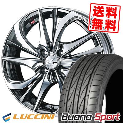 195/45R16 84V XL LUCCINI ルッチーニ Buono Sport ヴォーノ スポーツ weds LEONIS TE ウェッズ レオニス TE サマータイヤホイール4本セット