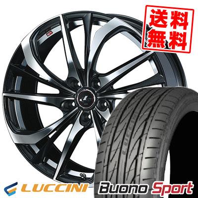 215/40R18 89W XL LUCCINI ルッチーニ Buono Sport ヴォーノ スポーツ weds LEONIS TE ウェッズ レオニス TE サマータイヤホイール4本セット