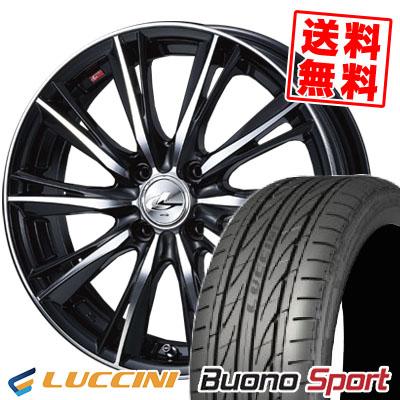 205/40R17 84W XL LUCCINI ルッチーニ Buono Sport ヴォーノ スポーツ weds LEONIS WX ウエッズ レオニス WX サマータイヤホイール4本セット