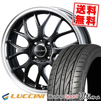 165/40R16 73V XL LUCCINI ルッチーニ Buono Ultima ヴォーノ ウルティマ Eoro Sport Type 805 ユーロスポーツ タイプ805 サマータイヤホイール4本セット