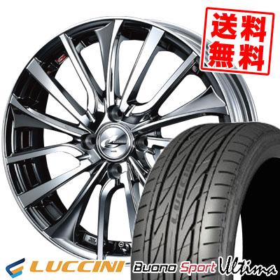 165/40R16 73V XL LUCCINI ルッチーニ Buono Ultima ヴォーノ ウルティマ weds LEONIS VT ウエッズ レオニス VT サマータイヤホイール4本セット
