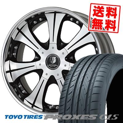 225/50R18 TOYO TIRES トーヨー タイヤ PROXES C1S プロクセスC1S BACK GAMMON LS7 バックギャモン LS7 サマータイヤホイール4本セット for 200系ハイエース