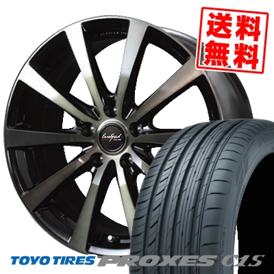 225/55R17 TOYO TIRES トーヨー タイヤ PROXES C1S プロクセス C1S EuroSpeed BL10 Army Black Clear ユーロスピード BL10 アーミーブラッククリア サマータイヤホイール4本セット